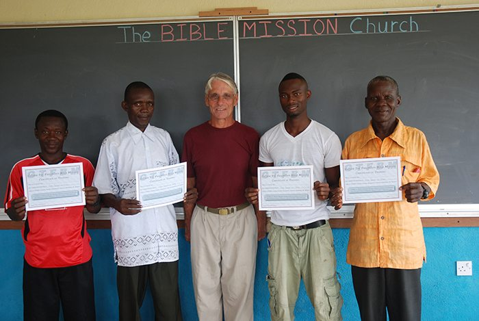 Certificates of completion are given for each course a student successfully fulfills.