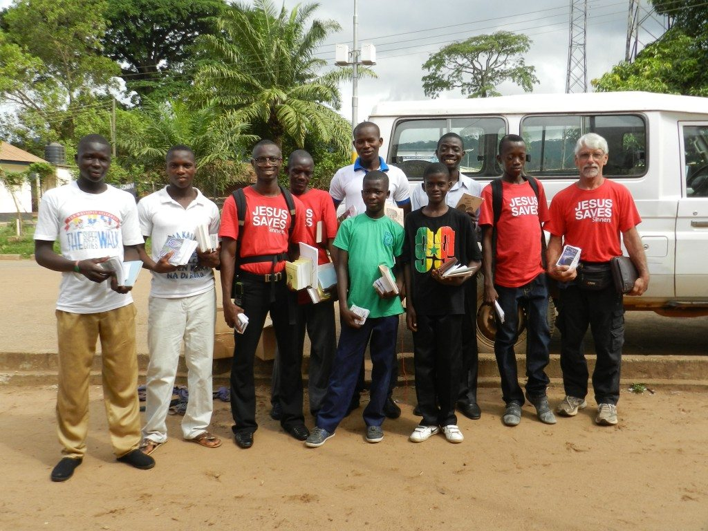 The Kenema team at Emmanuel Star Baptist Church
