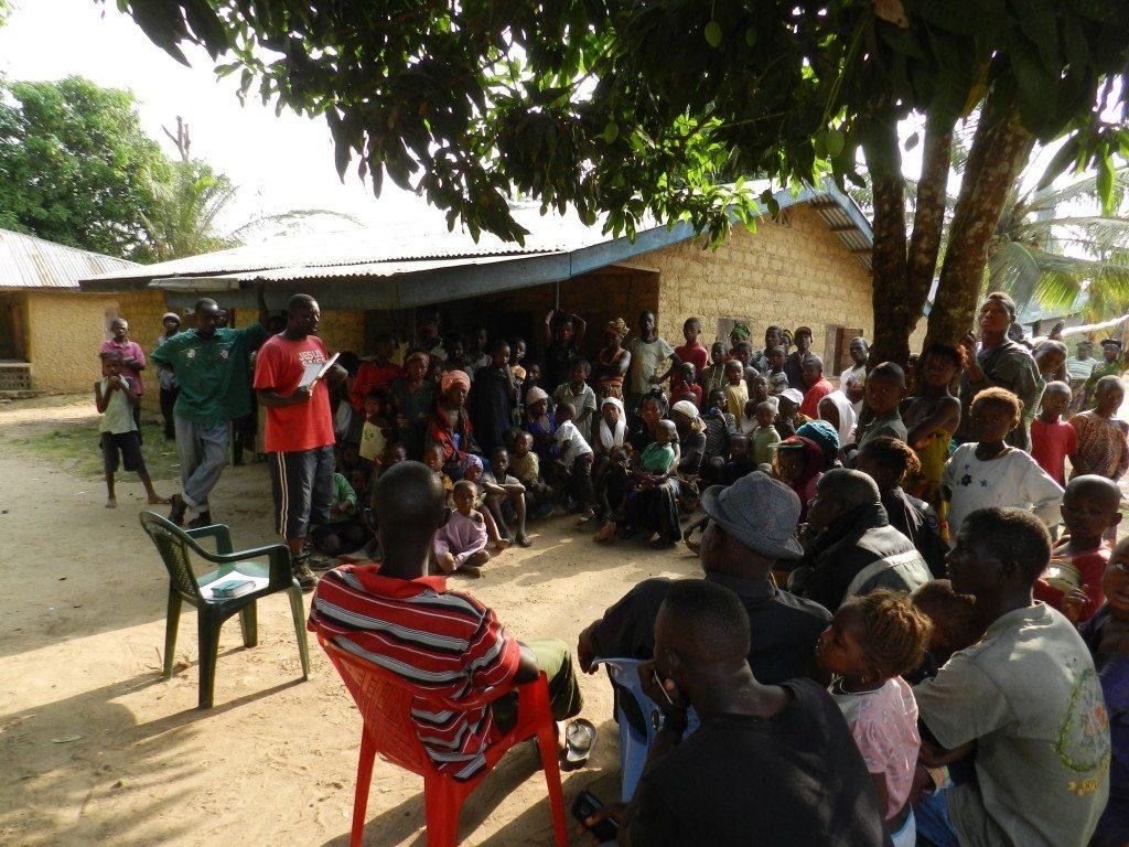 Church meeting under the Mango tree