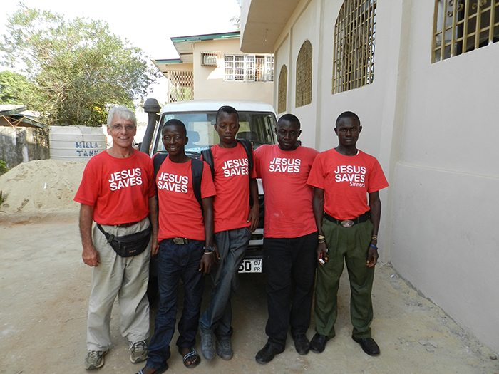 Students on an evangelism blitz in Freetown, Sierra Leone