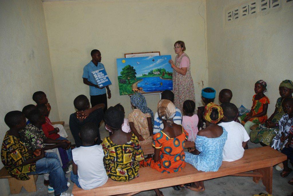 Mission Intern Aimee Tanselle teaching Junior Church
