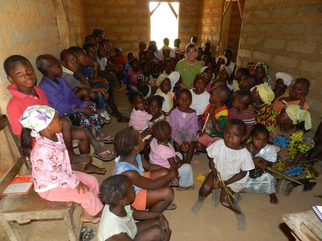 Aimee teaching in the remote village of Foya