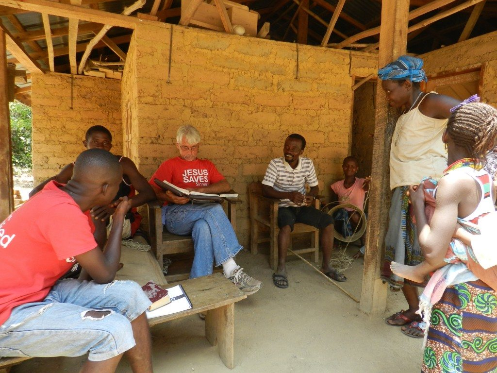 Bible Study with village Pastor